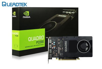 VGA Card LEADTEK nVidia Quadro P2200 (NVIDIA Geforce/ 5Gb/ DDR5X/ 160 Bit)